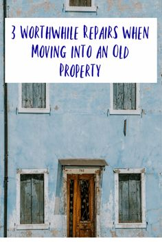 Worthwhile Repairs when Moving into an Old Property - a list of simple renovations you will want to consider when moving into an older property some DIY and some for the professionals #DIY #newhome #home #abeautifulspace Easy Projects, Home Projects, Home Renovation, Home Remodeling, Cheap Cottages, Cheap Shelves, Home Repairs, Home Improvement Projects, Home Buying