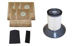5-Pack Bissell Zing Vacuum Bags & Motor Filters & Dirt Bin Filter for 7100 Canister Vacuum Part # 3210 & 203-1532