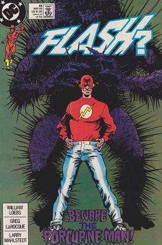 """Flash is a name shared by several fictional comic book superheroes from the DC Comics universe. Created by writer Gardner Fox and artist Harry Lampert, the original Flash first appeared in Flash Comics #1 (January 1940).  Nicknamed the Scarlet Speedster, all incarnations of the Flash possess """"super-speed"""", which includes the ability to run and move extremely fast, use superhuman reflexes and seemingly violate certain laws of physics."""