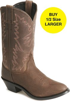 Old West Distressed Leather Cowgirl boots, $60.