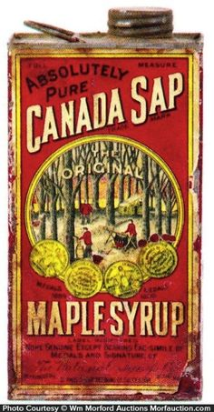 National Syrup Co.'s Canada Sap Maple Syrup tin