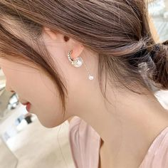 Fashion Bow Front And Back Pearl Earrings For Women 2020 New Korean Earrings Trendy Jewelry | Touchy Style Unique Earrings, Beaded Earrings, Women's Earrings, Earrings Handmade, Charm Rings, Charm Jewelry, Pinterest Jewelry, Korean Earrings, Silver Charm Bracelet