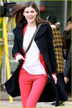Alexandra Daddario Street Style At Global Morning Show In Toronto January