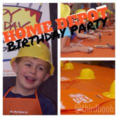 Home Depot Birthday Party from the gals at the third boob....and other adventures in mommyhood.