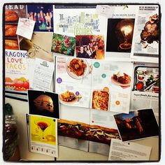 @Judi Pena's Inspiration Wall in her Cubicle #inspiration