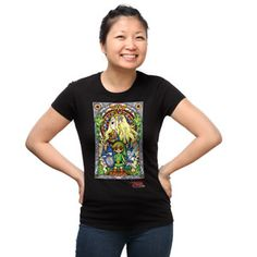 Capture Link's image in a stained glass window to memorialize him for all the hard work he has done over the years. And then turn that window on a shirt for all your friends to see.