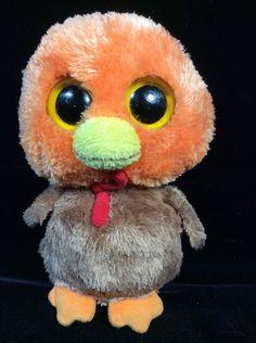 "Ty Beanie Boos Gobbler Turkey 2011 Plush Soft Toy 6"" #Ty Rare Beanie Boos, Ty Teddies, Justice Toys, Ty Animals, Cute Beanies, Beanie Babies, Toys Online, Big Eyes, Stuffed Animals"