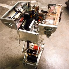 Adam Savage's tool box.  You can get any tool without having to move another. And it rises and descends as you need it to. Want.