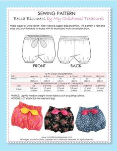 Free pattern by sewing mama raeanna liberty print bloomers wolves in london – ArtofitHow to make different type of frockMore than 50 Fun Beginner Sewing Projects - Steaten Toddler Sewing Patterns, Sewing For Kids, Free Sewing, Baby Patterns, Pattern Sewing, Free Pattern, Baby Sewing Projects, Sewing Projects For Beginners, Sewing Hacks