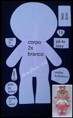 ARTE COM QUIANE - Paps e Moldes de Artesanato : Molde boneca Ovelhinha ❤️