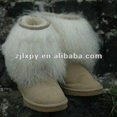 7032 - Women's sheepskin winter snow boots with mogolian lamb fur $41.1~$43.1