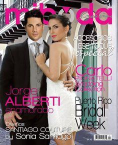 Jorge Alberti engalana la portada de la revista Mi Boda.