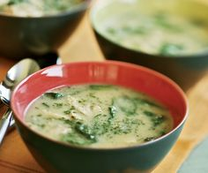 Lemon Chicken Soup with Spinach & Dill Recipe