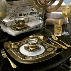 Versace Gold Plated Cutlery by Versace - Dotmaison