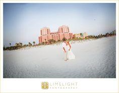 Hyatt Regency Clearwater Beach, Bride, Groom, Beach, Wedding Photography, Limelight Photography, www.stepintothelimelight.com