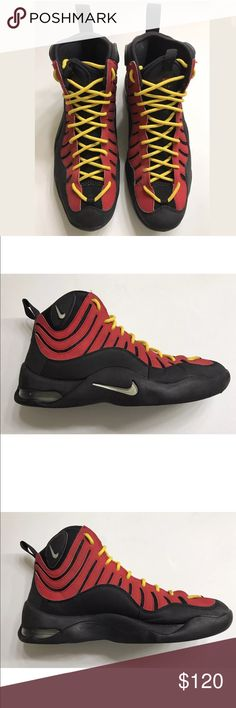Nike Air Retro Bakin Yellow Black Red Sneaker 9.5 • Size US 9.5 EUR 43  • Yellow/Red/Black  • Basketball Shoes Nike Shoes Sneakers