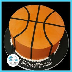 Buttercream Basketball Birthday Cake