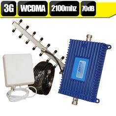 600 Square Meters 70dB High Gain 3G WCDMA 2100 Cell Phone Mobile Amplifier 3G HSPA 2100 Cellular Signal Booster Repeater Antenna