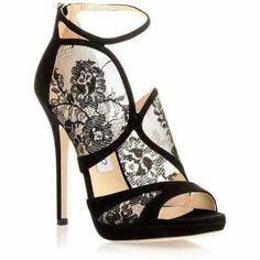 Head over Heels - Jimmy Choo Flyte black suede lace sandal 185892f4591