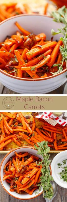 Maple Bacon Carrots | http://thecookiewriter.com | #carrots #bacon #maple (ad)