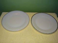 "Anchor Hocking-Fire King-Milk Glass-dinner Plates-9"""