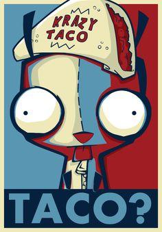 Invader Jim in Obama Hope Poster Style  http://en.wikipedia.org/wiki/Barack_Obama_%22Hope%22_poster