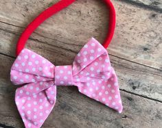Valentine's Day Bow - baby - headbands - Averie and Jane