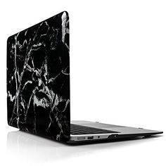 iDOO { For MacBook Air 13 inch: A1369 / A1466 } Marble Pattern Case - Hard Print Frosted Rubber Coated Hard Shell - Black, http://www.amazon.co.uk/dp/B01B1YXC8A/ref=cm_sw_r_pi_awdl_x_yn70xbFXVJTN8