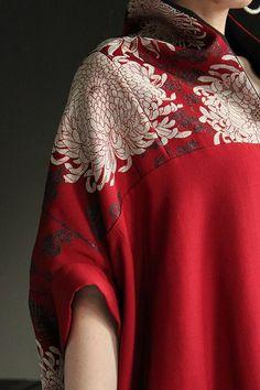Matched pattern on the seam Kimono Fabric, Silk Kimono, Kimono Dress, Japanese Kimono, Japanese Fashion, Asian Fashion, Modern Kimono, Colourful Outfits, Minimal Fashion