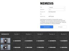 Freeletics Nemesis Workout - Nemesis besteht aus 5 Runden mit je 2 Übungen und ist in drei Varianten absolvierbar..