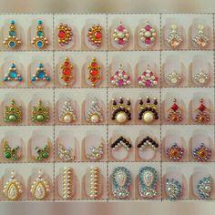 Diy Rhinestone Nails, Bling Nail Art, Bling Nails, Rhinestone Jewelry, Glitter Nails, Diamond Nail Art, Nail Jewels, Gem Nails, Nail Arts