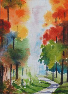 watercolor landscape | watercolor landscape painting