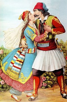 Augusto Grossi (1835-1897)-Λαϊκή ζωγραφική που δείχνει τον ελληνικό λαό