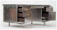 RARE Classic Steel Case Tanker Desk by STEELCASE
