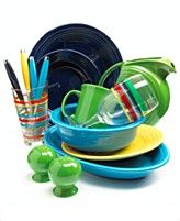 Love fiesta dinnerware, everybody eats off a different color :)  Looking for canisters.