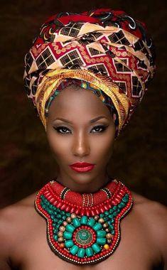 Attaché de foulard cheveux afro crépus