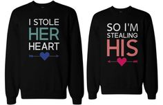 365♥ | My Bae and My Boo Matching Couple Sweatshirts