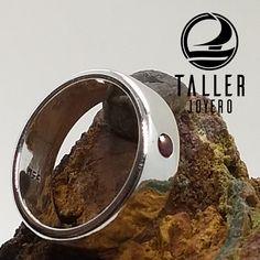 Anillo ancho de plata y circón A0-705 #joyeria #hechoamano - Taller Joyero confección y diseño de joyas, Joyería online.