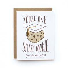 Offer your sincere congrats with this sweet + punny graduation card.