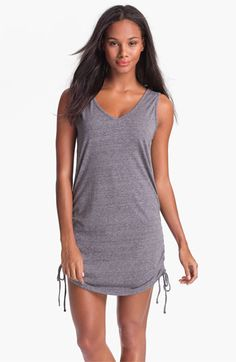 Eco Swim Shirred Side Cover-Up | Nordstrom