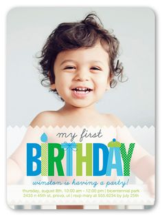I like that i can have lots of photos in this one oh what a year my first baby boy birthday invitation filmwisefo