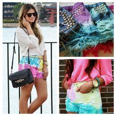 Look Shorts Dip Dye Tassia Naves