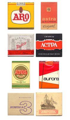 Vintage cigarette paket artwork - they don't make 'em like this anymore.