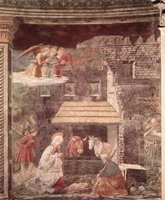 Nativity Painting by Fra' Filippo Lippi / Fra' Filippo Lippi (1406-1469)