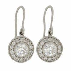 Silverörhänge 1,5ct + 14 diamantsimulanter