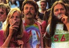 Linda McCartney, Paul McCartney and David Gilmour #weed #pot