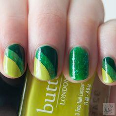 Polish Hound: St. Patrick's Day Tri-tone Taping Manicure [Nail Art]