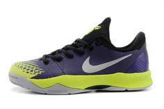 2014 New Nike Kobe Venomenon 4 Mens NBA Athletic Sneakers in Color Court Purple/Volt/Wolf Grey
