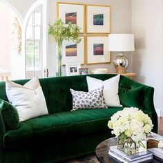 Ornate moldings? Arched doorways? An emerald green velvet oasis? Yes, yes, yes to all of the above! Shop the art on Alice Lane's website and see the full renovation on our blog!