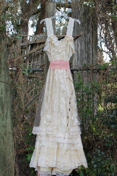 Wedding dress- the Elizabeth style Eco-wedding dress. $345.00, via Etsy.